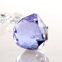 Purple Chandelier Lamp Crystal Glass Prism Ball Hanging Pendant Suncatcher 30mm
