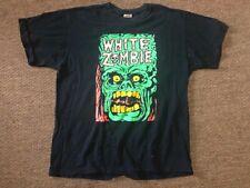 White Zombie Vintage Devil Rob Get Up and Kill T-shirt L Rare Black Large Vtg
