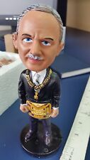SIGNED! Grand Master of Masons of Ohio Bobble Head, Rob C. Rill Jr. Robble Head