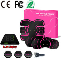 LCD Display Smart Abs Stimulator Abdominal Muscle Toning Fitness Trainer 10 Mode