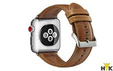 Armband für Apple Watch 44mm Series 4 Armband Leder Ersatzarmband in Cognac Look