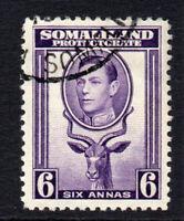 Somaliland 6 Anna c1938 Used  (1641)