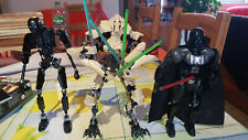 Lego Star Wars Lot Personnages Dark Vador, Grivious, K-2SO, 75534, 75112, 75120