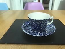 burleigh ware blue And White Floral Cup And Saucer