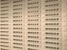 Sensormatic Ultra Strip Iii Security Sheets 5,000 pc Lot Dual Res Bar Code Tags