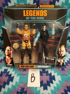 TNA Jakks Legends Of The Ring RVD / Jeff Hardy Ringside Exclusive (B)
