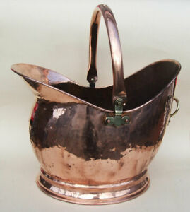 Large Vintage Fireplace Waterloo Copper Coal/ Helmet / Hod / Scuttle / Bucket.