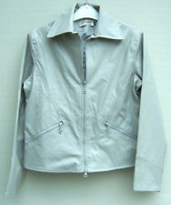 RETRO Faux Leather Jacket Grey Size 14/16 - 1990's ONE ONLY - New never worn