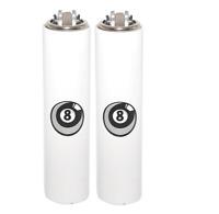 2 Ct Mini Size CLIPPER Lighters Refillable 8 Billiard Ball Design Metal Cover