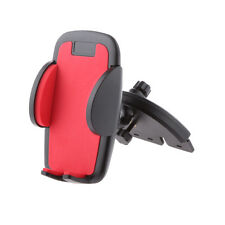 Car CD Slot Port Mobile Phone Stand Mount Holder for Samsung Galaxy Red