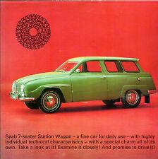 Saab 95 Estate 2-Stroke 1965-66 UK Market Single Sheet Sales Brochure