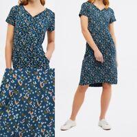 NEW RRP £49.95 Ex White Stuff Alice Jersey Dress In Artist Teal Print