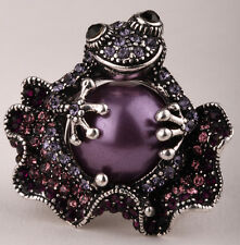 Frog stretch ring cute animal bling scarf jewelry gift 11 dropshipping purple