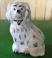 BESWICK DOG MANTLE WALLY DOG SMALL CREAM WITH GOLD AND BLACK No. 1376-7 PERFECT