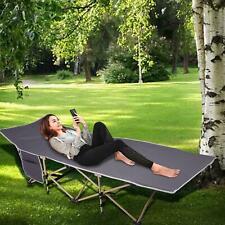 190cm Sonnenliege Gartenliege Liegestuhl Campingliege K-lappbar Campingbett Bett