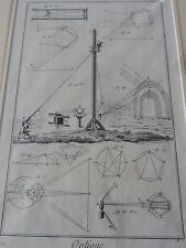 OPTICIAN OPTICAL  amazing mounted 1700s engraving equipment F  GIFT POTENTIAL
