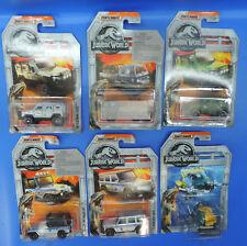 Matchbox Jurassic World 6 Voitures Cars de Jurassic World 1:64