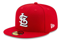 NEW ERA 59FIFTY FITTED CAP. AUTHENTIC MLB ON FIELD CAP. ST LOUIS CARDINALS