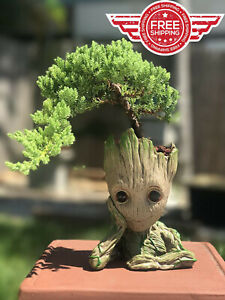 Guardians Of The Galaxy Baby Groot Figure Pen Flower Pot Tree Planter Toy Gift