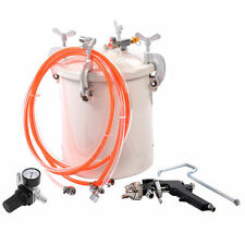 High Pressure Pot Air Paint Spray Gun 2 1/2 Gallon Industrial Painting Painter