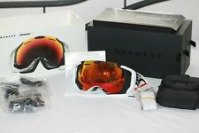 Oakley AIRWAVE 1.5 SKI GOGGLES OO7049-05 White Frame W/ Fire Iridium Lens WI-FI