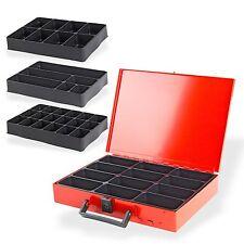 Metall Stahlblech  Sortimentskasten Sortimentskoffer Kleinteilekoffer  11 Fächer