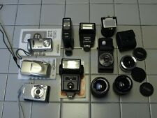 Mixed Lot Of Cameras And Flash Units Used