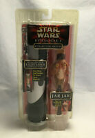 Vintage Star Wars Ep. 1 Jar Jar Binks Collector Watch w/ Lightsaber Display Case