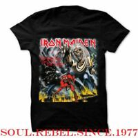 IRON MAIDEN THE NUMBER OF THE BEAST PUNK ROCK HEAVY METAL  MEN'S SIZES  T SHIRT