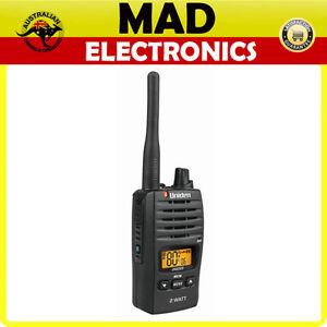 UNIDEN UH820S 80 Channels 2 Watt UHF Handheld Radio USB Charging 13 KM Range NEW