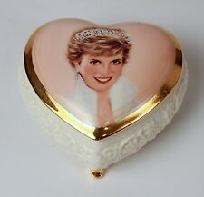 Princess Diana Queen Of Our Hearts Heart Music Trinket Box Ardleigh Elliott 1998