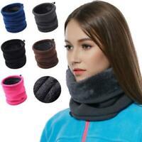 Men Women Thermal Polar Fleece Snood Neck Warmer Scarf Warm Winter Ski