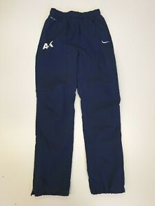 GG838 BOYS NIKE DRI-FIT BLUE ANKLE ZIPS TRACKSUIT BOTTOMS 12-13 YEARS W26 L28