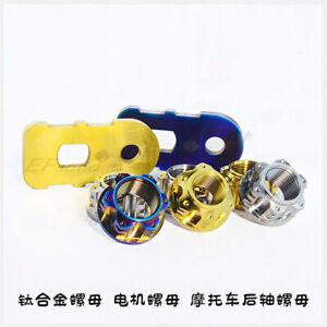 1pcs Titanium Motorcycle Rear Axle Nuts Nut 1.5 Thread Pitch M16 M18 M20