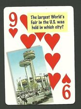 New York World's Fair 1964 Neat Playing Card #4Y6