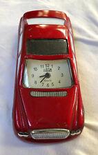 Red Sports Car Metal Miniature United Quartz Clock Novelty Desk Top