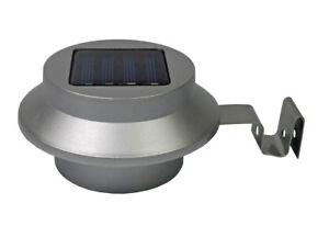 Jardinion Solarleuchte Dachrinnenleuchte 2er Set LED Außenleuchte