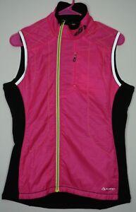 Louis Garneau Women's Large Alpha Diva Pink Polartec Packable Cycling Vest