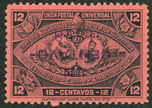 GUATEMALA #74a INVERTED SURCHARGE National Arms Issue 1897 Postage Stamp Mint NH