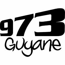 Sticker autocollant Guyane 973  Ref: guy03