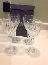 BNIB Set 4 Castlemaine Waterford Crystal Wine Water Goblets Signed IRELAND