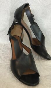 Givenchy Shoe Black Low Heel Side Buckle Size 40