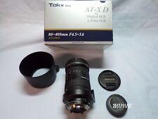 Tokina AT-X 80-400mm F/4.5-5.6 SD Lens For Nikon