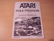 Atari XL/XE - POLE POSITION - Game Manual - Dutch Language -1