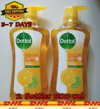 2X Dettol Antibacterial Shower Gel Refreshing Citrus Clean Anti-Germs Protection