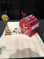 3D Pop Up Card Farm Kirigami Handmade Birthday/Anniversary/Fathers Day