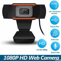 720P/1080P Webcam USB 2.0 HD PC Camera Computer Video Recording With Microphone