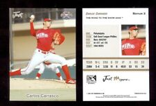 (1,800) CARLOS CARRASCO - Cleveland Indians 2005 Gulf Coast League Phillies LOT