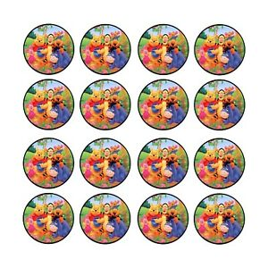 24x Winnie the Pooh Edible Cupcake Toppers Wafer Paper 4cm (uncut)
