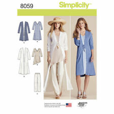Simplicity Sewing Pattern 8059 SZ 4-26 Misses Duster Pants Knit Dress Tunic Top